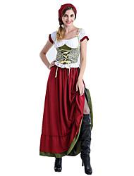 cheap -Oktoberfest Beer Dirndl Trachtenkleider Women's Dress Bavarian Costume Blushing Pink / Floral