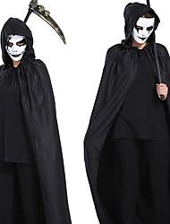 Недорогие -Призрак Товары для Хэллоуина Взрослые Муж. Хэллоуин Хэллоуин Фестиваль / праздник полиэфирное волокно Черный Муж. Карнавальные костюмы / Костюм
