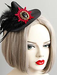 Недорогие -Жен. шляпа Назначение Halloween Тематическая вечеринка Перо Резина Перья Ткань Черный 1