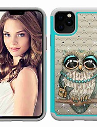 cheap -Case For Apple iPhone 11 / iPhone 11 Pro / iPhone 11 Pro Max Shockproof / Rhinestone / Pattern Back Cover Animal TPU / Plastic