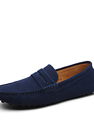 cheap -Men's Loafers & Slip-Ons Moccasin Comfort Shoes Driving Shoes Daily Outdoor Walking Shoes Mesh Chiffon Wine Light Brown Green / Blue Spring & Summer Fall & Winter