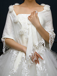 cheap -Sleeveless Faux Fur / Acrylic Wedding / Party / Evening Women's Wrap With Tassel Capelets
