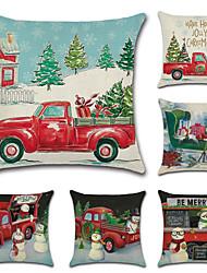 cheap -Christmas series theme pillow cover cushion cover car Christmas tree retro