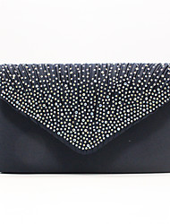 cheap -Women's Polyester Evening Bag Solid Color Black / White / Purple