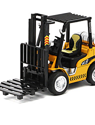 cheap -1:32 Metalic Construction Truck Set Forklift Toy Truck Construction Vehicle Toy Car Pull Back Vehicle Forklift Kid's Car Toys / 14 Years & Up