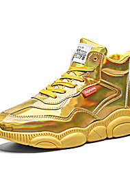 cheap -Men's Novelty Shoes PU Spring & Summer / Fall & Winter Sporty / Casual Sneakers Running Shoes / Walking Shoes Warm Gold / Silver / Outdoor / Comfort Shoes / Light Soles