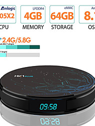 Недорогие -hk1 plus smart tv box 4 Гб оперативной памяти 64 г rom android 8.1 amlogic s905x2 2.4 г 5 г Wi-Fi Bluetooth h.265 4k HD медиаплеер