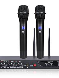 Недорогие -MU-6S UHF двойной беспроводной микрофон ручной для домашнего кинотеатра КТВ пение школы встреча микрофон речи