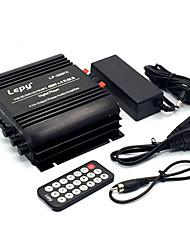 Недорогие -4x45 Вт мини-усилитель с дистанционным управлением USB mp3 медиа-карты FM