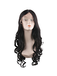 cheap -Synthetic Lace Front Wig Curly Middle Part Lace Front Wig Long Synthetic Hair 28 inch Women's Women Best Quality Fashion Black