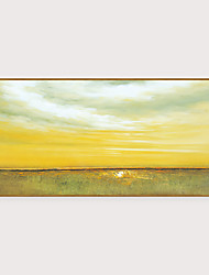 cheap -Framed Art Print Framed Set - Abstract Landscape PS Oil Painting Wall Art