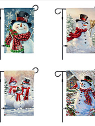 cheap -Christmas garden flag 30*45cm double-sided printed snowman linen yard decoration flag