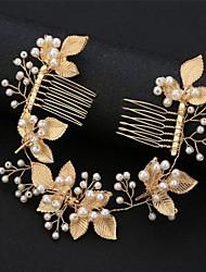 cheap -Alloy Tiaras / Headpiece with Pearls / Metal 1 pc Wedding Headpiece