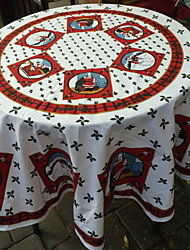 cheap -Casual polyester fibre Round Table Cloth Geometric Christmas Table Decorations