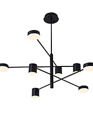 cheap -8-Light 8 Lights LED Industrial Chandelier/ Ambient Light Black Painted for Living Room Bedroom 110-120V/ 220-240V / Warm White/ White
