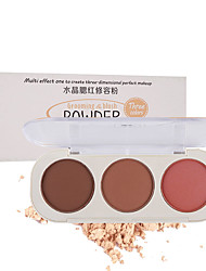 cheap -3 Colors Dry Waterproof / Long Lasting / water-resistant Universal / Daily / Cosmetic # Traditional / Fashion Waterproof / Hypoallergenic / lasting Christmas / Halloween / Birthday Powder Makeup