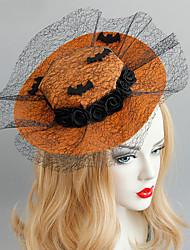 cheap -Women's Vintage Trendy Fashion Fabric Alloy Hat Hair Clip Halloween Theme Party