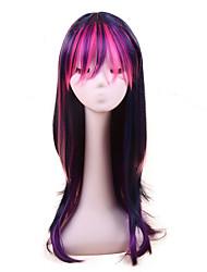 Недорогие -Косплей Принцесса Косплэй парики Жен. 24 дюймовый Синтетика Фиолетовый Лиловый Аниме
