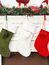 cheap -Christmas knitted socks knitted socks gift bag fireplace Christmas Party decoration hug-deals