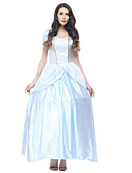 cheap -Princess Dress Masquerade Tiara Women's Movie Cosplay Cosplay Halloween Light Blue Dress Gloves Petticoat Halloween Carnival Masquerade Polyster / Crown / Crown