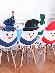 cheap -Santa Chair Covers Hat Christmas Decoration Dinner Chair Sets