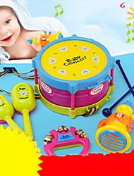 cheap -Drum Set Hand Bells Speaker Drum Set Classic Plastic ABS 5 pcs Kid's Kids Boys' Girls' Toy Gift