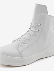 cheap -Men's Combat Boots Synthetics Fall / Fall & Winter Casual / British Boots Warm Booties / Ankle Boots Black / Black and White / White / Party & Evening