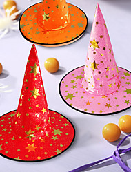 cheap -Witch Hats Masquerade Ribbon Wizard Hat Party Hats Caps Cosplay Halloween Costume Accessories Party Fancy Dress Decoration