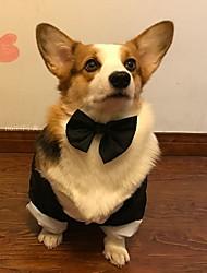 cheap -Dogs Outfits Dog Clothes Black Costume Baby Small Dog Polyster Striped Wedding XXL XXXL XXXXL XXXXXL