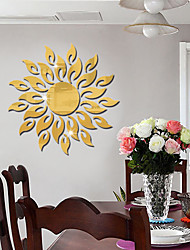 cheap -3D Mirror Sun Flower Art Removable Wall Sticker Acrylic Mural Decal Home Room Decor Hot Decorative Stickers