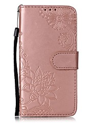cheap -Case For Apple iPhone 11 / iPhone 11 Pro / iPhone 11 Pro Max Wallet / Card Holder / Flip Full Body Cases Solid Colored / Flower PU Leather
