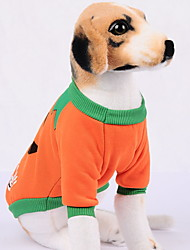 cheap -Dogs Outfits Winter Dog Clothes Orange Halloween Costume Baby Small Dog Polyster Pumpkin Holiday Funny XS S M L XL