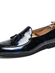 cheap -Men's Formal Shoes PU Spring & Summer / Fall & Winter Casual / British Loafers & Slip-Ons Black / Blue