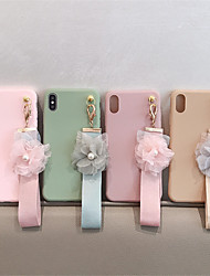 cheap -Case For Apple iPhone XS / iPhone XR / iPhone XS Max DIY Back Cover Solid Colored / Flower TPU