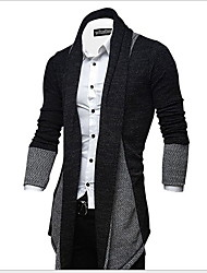 cheap -Men's Solid Colored Long Sleeve Loose Cardigan Sweater Jumper, V Neck Red / Light gray / Dark Gray US32 / UK32 / EU40 / US34 / UK34 / EU42 / US36 / UK36 / EU44