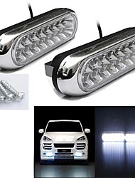 cheap -1pcs 2W Car Daytime Running Fog White 16 LED Light Lamp 12V