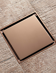 cheap -Rose gold drain brass 4inch floor mounted 10x10cm tile insert bathroom waste gate
