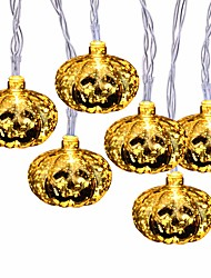 cheap -Halloween String Lights 2m 10 LED Glittering Jumbo Pumpkin Bulbs Decoration Lights for Outdoor Indoor Halloween Christmas Party Festival