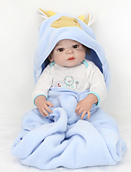 cheap -NPK DOLL 22 inch Reborn Doll Reborn Toddler Doll Baby Boy Baby Girl Gift Music Cute Full Body Silicone with Clothes and Accessories for Girls' Birthday and Festival Gifts / Kids