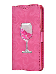 cheap -Apple Suitable For XS Max/XR/X wallet type card 6/7/8 liquid wine glass holster 6 Plus/7 Plus/8 Plus All-inclusive Anti-fall Flip Type Mobile Phone Case