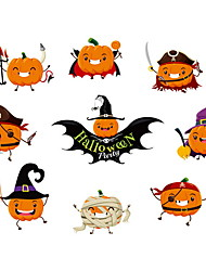 cheap -Halloween Decorations Wall Stickers Holiday Wall Stickers Decorative Wall Stickers, PVC Home Decoration Wall Decal Wall Decoration 10pcs