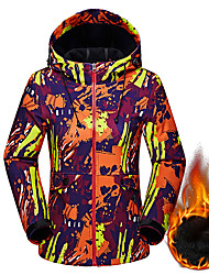 cheap -Women's Softshell Jacket Hiking Jacket Winter Outdoor Camo Thermal / Warm Windproof Breathable Rain Waterproof Jacket Hoodie Top Softshell Single Slider Camping / Hiking Hunting Ski / Snowboard