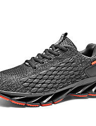 cheap -Men's Comfort Shoes Tissage Volant Spring & Summer / Fall & Winter Sporty / Casual Athletic Shoes Running Shoes / Walking Shoes Breathable Booties / Ankle Boots Black / Dark Grey / White