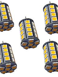 cheap -5pcs 4 W LED Bi-pin Lights 400 lm G4 GY6.35 30 LED Beads SMD 5050 Warm White White 9-30 V