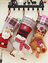 cheap -Christmas Ornaments / Christmas Stockings Family Cloth / Flannelette / Non-woven Cartoon / Party Christmas Decoration