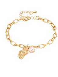 cheap -Women's Freshwater Pearl Chain Bracelet Classic Shell Natural Sweet Folk Style Alloy Bracelet Jewelry Gold For Gift School Street