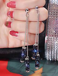 cheap -Women's Drop Earrings Double Twine Star Punk Romantic Cute Boho Imitation Diamond Earrings Jewelry Black / Silver / Blue For Daily Carnival Club 1 Pair