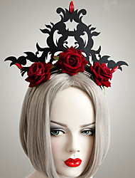 cheap -Women's Headbands For Halloween Club Theme Party Flower Series Classic Resin Fabric Iron Black 1