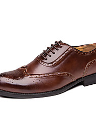 cheap -Men's Formal Shoes Microfiber Spring & Summer / Fall & Winter Business / Casual Oxfords Breathable Black / Brown