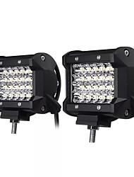 Недорогие -2 шт. 4-дюймовый светодиодный рабочий свет бар прожектор противотуманная фара 10-30 В 72 Вт белый 2 шт. Для внедорожных внедорожник грузовик